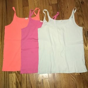 Lot of 3 J. Crew cotton tank tops ☀️